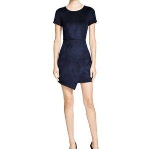 Aqua Blue Suede Dress